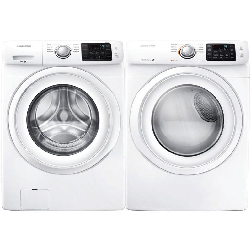 Samsung White Washer & Dryer