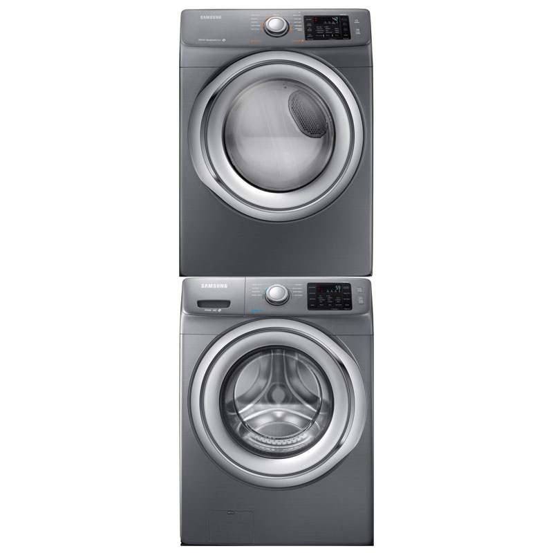 Samsung Platinum Washer & Dryer w/ Stack Kit