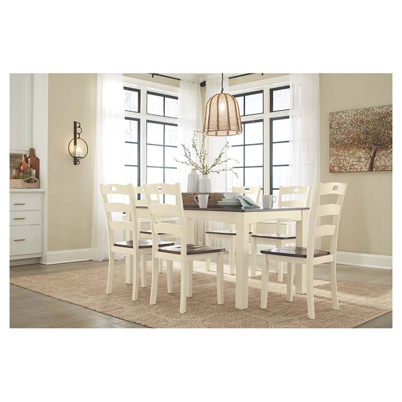 Rent To Own Ashley Lacey 7 Piece Dining Room: Ashley Woodanville 7-Piece Dining Set