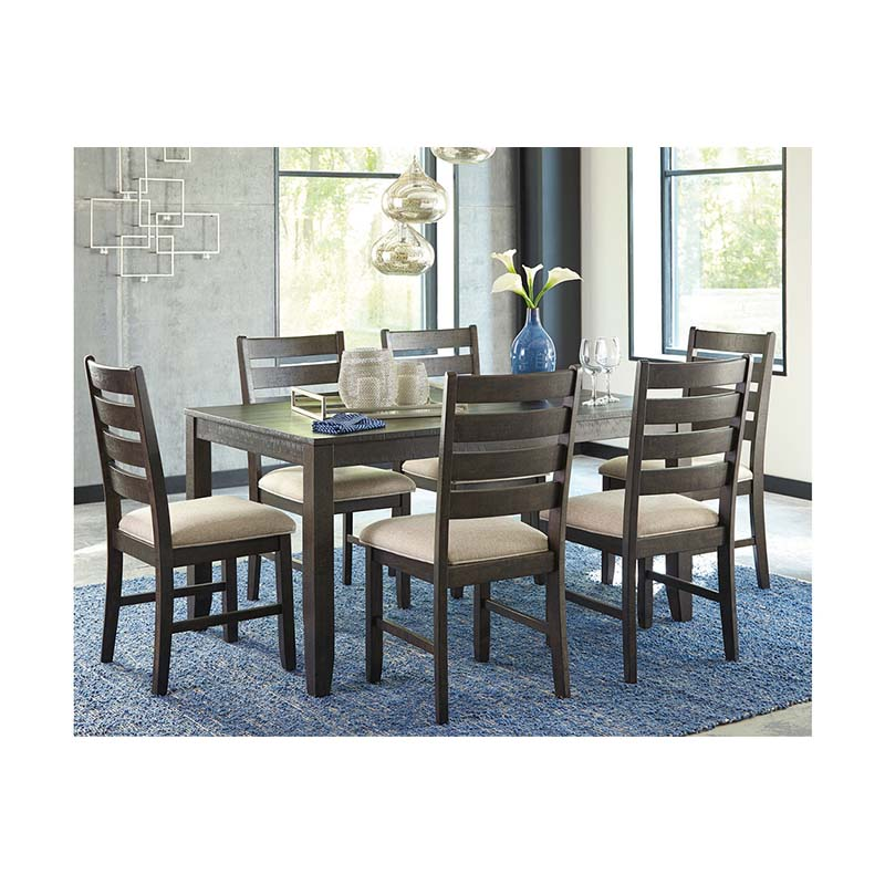 Rent To Own Ashley Lacey 7 Piece Dining Room: Ashley Rokane 7-Piece Dining Set