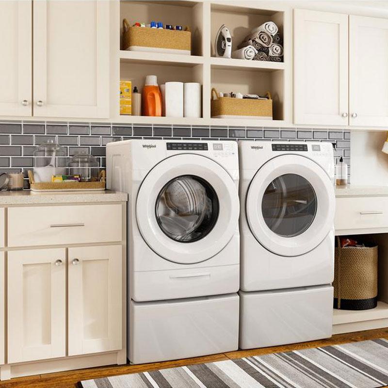 Whirlpool Front Load Washer & Dryer w/ Pedestals